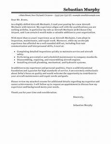Sample Letter To Recruiter For Job Best Aircraft Mechanic Cover Letter Examples Livecareer