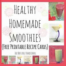 Homemade Recipe Cards Healthy Homemade Smoothies With Free Printable Recipe
