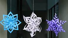 3d Paper Snowflake Diy 3d Snowflake Making Tutorial Diy Crafts Youtube