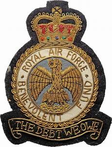 Royal Air Force Designs Royal Air Force Benevolent Fund Quot The Debt We Owe Quot Badge