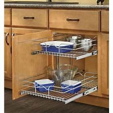 rev a shelf 17 75 in w x 19 in h metal 2 tier pull out