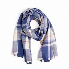 tuckernuck preppy look by m blue pastel checker scarf blue