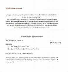 Standard Contract Template 22 Service Agreement Templates Word Pdf Apple Pages
