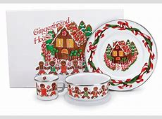 Gingerbread House Enamelware Baby's First Christmas Gift