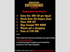 Pubg Mobile Tournament   Pubg Mobile Online Tournament India