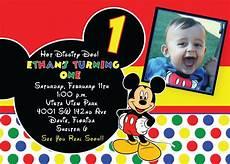 Mickey Mouse Birthday Invites Free Printable 1st Mickey Mouse Birthday Invitations