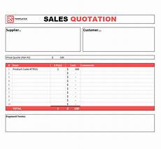 Quote Format Sales Quotation Templates 6 Free Samples Examples