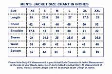 Mens Jacket Size Chart Size Guide Leatherexotica