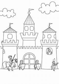 Malvorlagen Ritterburg Test Kostenlose Malvorlage Ritter Und Drachen Ritterburg Zum