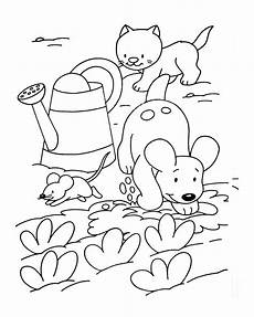 for children cat with a mouse dogs