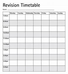 Blank Revision Timetable Timetable Template 9 Download Free Documents In Pdf Excel