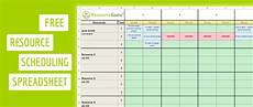 Scheduling Spreadsheet Excel Download A Free Resource Scheduling Template For Excel
