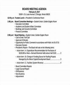 How To Write An Agenda For A Board Meeting Board Meeting Agenda