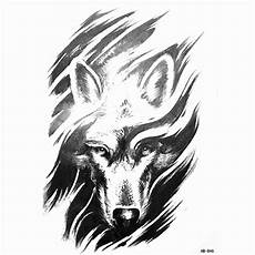 desenho de lobos new arrive 2017 fashion water transfer sticker cool wolf