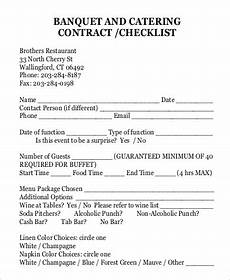 Catering Agreement Template Free 15 Sample Catering Contracts In Pdf Ms Word