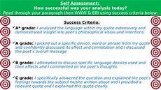Poetry Success Criteria Unseen Poetry Success Criteria Teaching Resources
