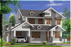 Home Design Roof Styles 2367 Square Sloping Roof Home Home Kerala Plans