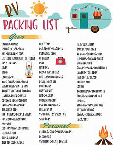 List For Camping Free Rv Checklist Printable Packing List Must Have