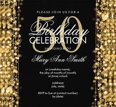 50th Birthday Invites Templates 45 50th Birthday Invitation Templates Free Sample