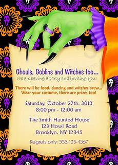 Costume Party Invitations Free Printable Printable Halloween Birthday Party Invitation Custom
