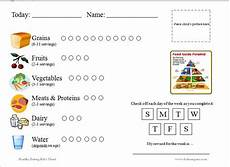 Daily Nutrition Chart For Children Chart For Tracking Daily Food Group Intake Great For Kids