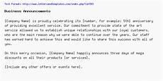 Business Announcement Templates Business Announcements