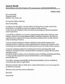 Cover Letter For Security Position Security Officer Cover Letter Sample