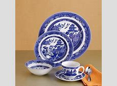 "20 pc. Service for 4 ""Willow Blue"" Earthenware Dinnerware"