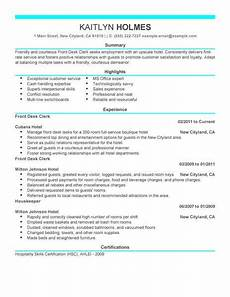 Hotel Desk Clerk Resume Best Front Desk Clerk Resume Example Livecareer