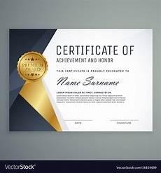 Appreciation Award Premium Certificate Of Appreciation Award Design Vector Image