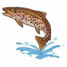 embroidery muster rainbow trout freeembroiderydesigns
