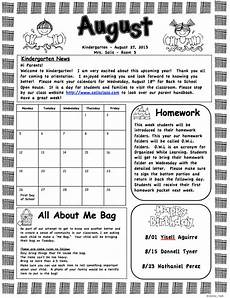 Monthly Newsletter Templates Mrs Solis S Teaching Treasures Monthly Newsletters