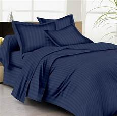 buy bed sheets with stripes 300 thread count navy blue