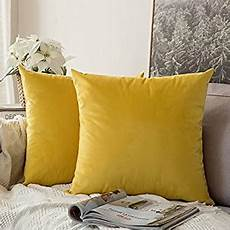 homescapes 100 cotton plain yellow cushion cover 45 x