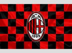 Download wallpapers AC Milan, 4k, logo, creative art, red