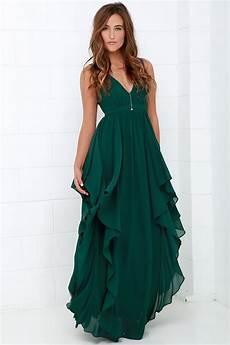 beautiful green maxi dress prom dress bridesmaid