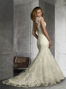 vintage lace wedding dresses with open back sang maestro