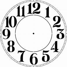 Template Clock Designer Stencils Modern Numeral 18 In Clock Stencil