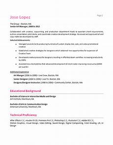 Technical Proficiency In Resume Creative Manager Resume Example Digital Media