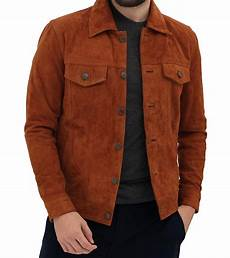 Light Brown Suede Jacket Mens Genuine Brown Suede Leather Jacket Mens