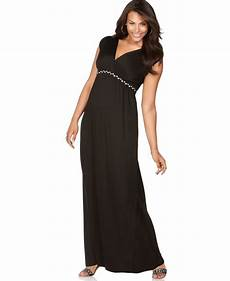 cap sleeve maxi dresses for plus size cap sleeve braided empire maxi dress in