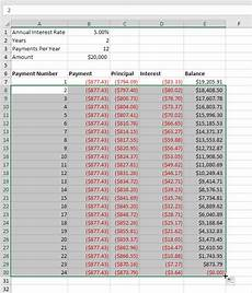 Loan Amortisation Table Excel Loan Amortization Schedule In Excel Easy Excel Tutorial