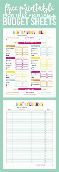 Budget Sheets Templates Budget Sheet Track Monthly Finances Using Free Printables