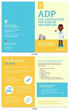 Information Pamphlet Template Colorful Disease Prevention Informational Pamphlet Template