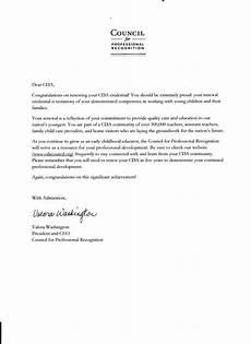 Sample Recommendation Letter For Cda Renewal Child Development Associate Artis