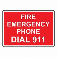 Emergency Contact Sign Fire Emergency Phone Dial 911 Sign Nhe 13838 Emergency