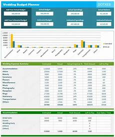 Budget Calculation Excel Wedding Budget Calculator And Estimator Spreadsheet