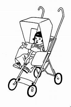 kinderwagen mit ausmalbild malvorlage kinder