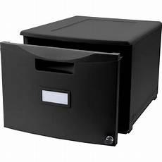 storex single drawer mini file cabinet with lock