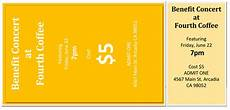 Free Online Ticket Template 10 Free Event Ticket Templates For Word And Adobe